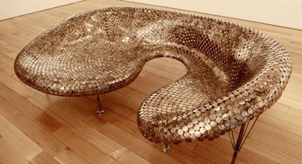 bronze sofa