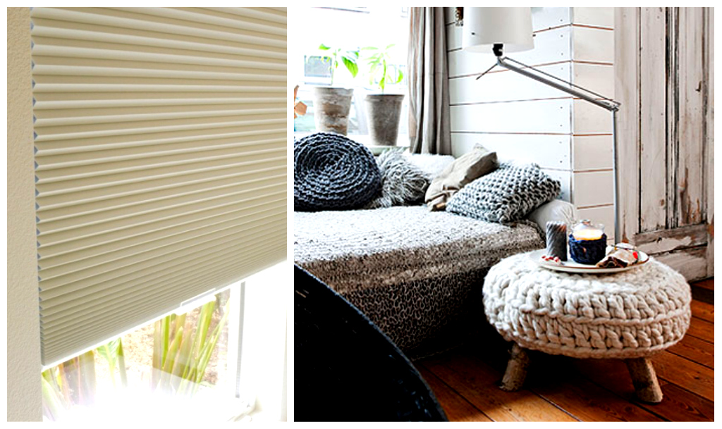 Cellular blinds and knitted