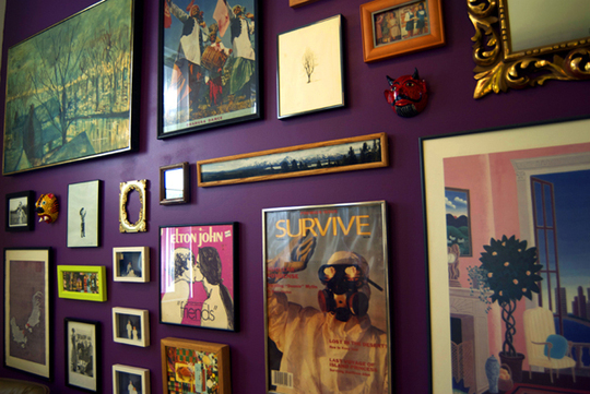Deep purple feature wall