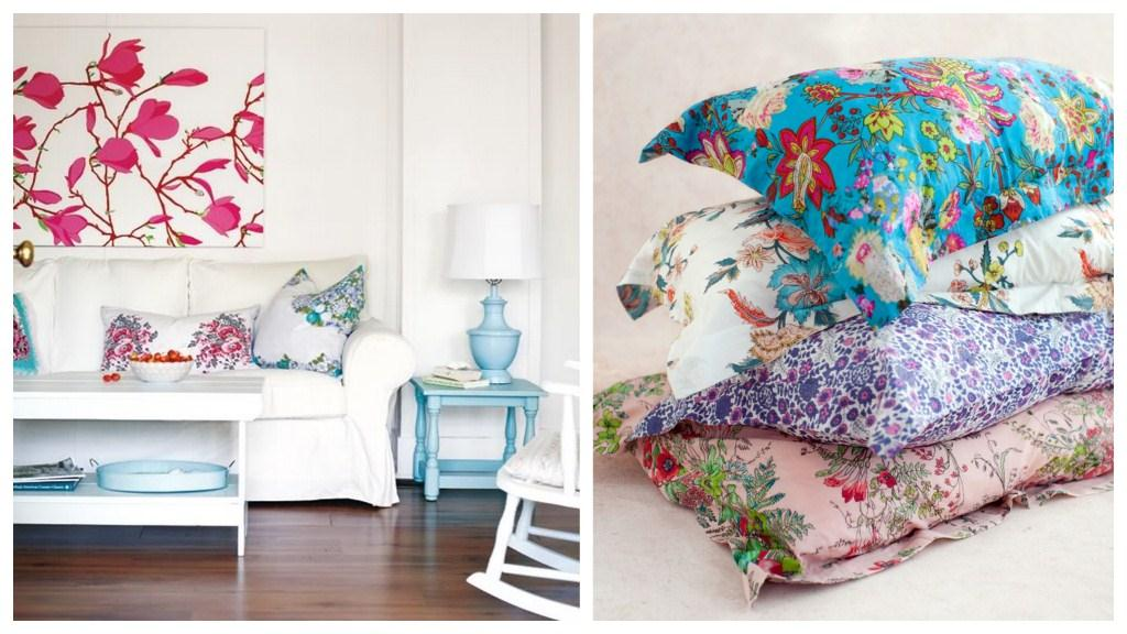 Spring home décor trend: floral prints and paintings