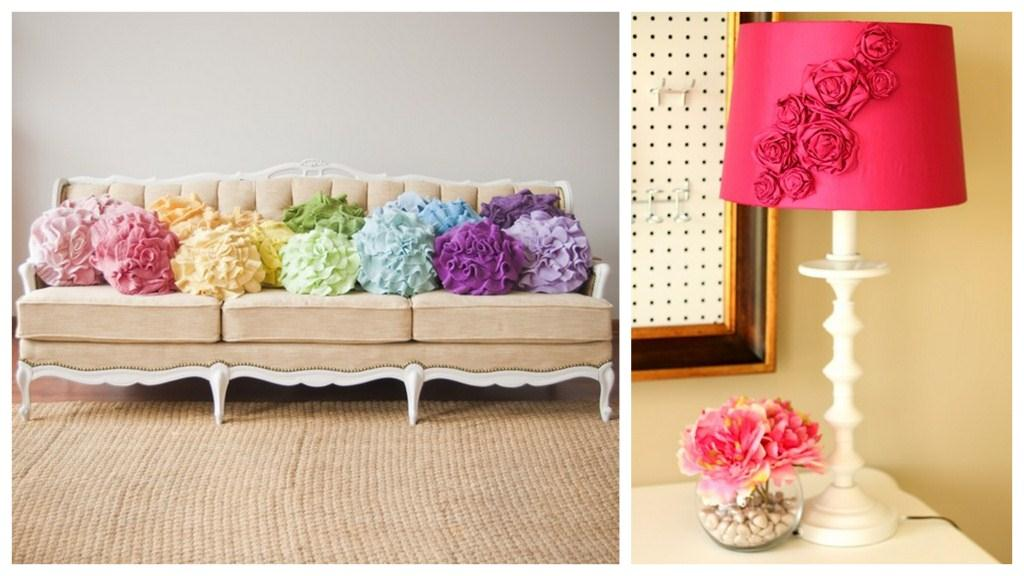 Awesome Rose Ruffle Cushions And Lamp Revamp With Decorating For Spring  Decorating For Spring Cool With Beautiful.