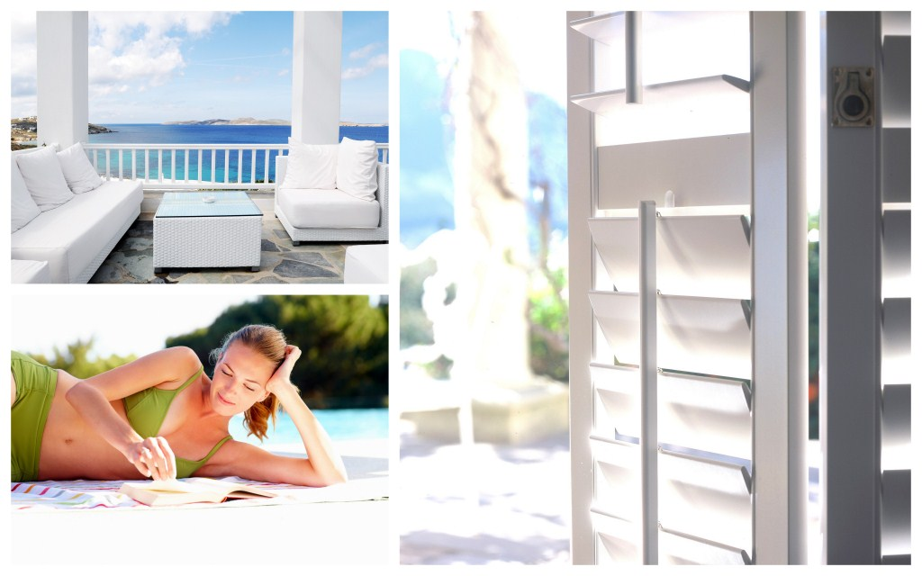 Summer outdoor living with AMERICAN shutters