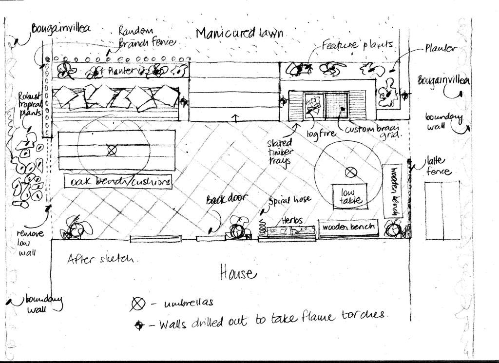 Patio floor plan