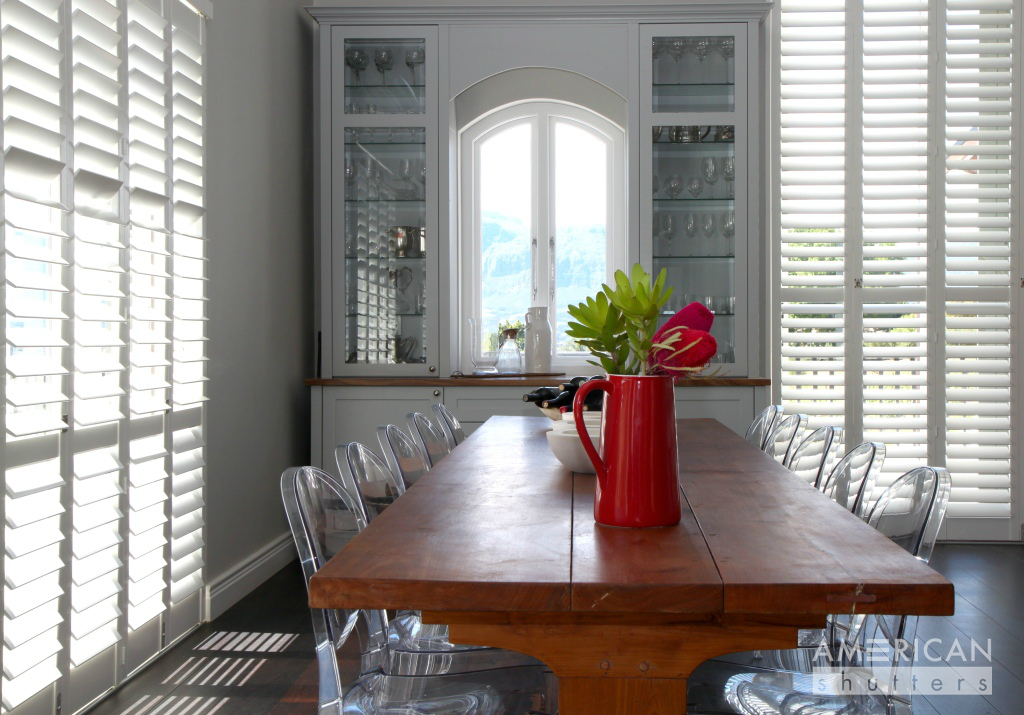 AMERICAN shutters enclose dining area