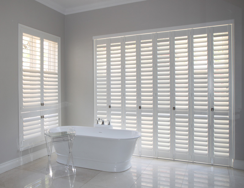 Bathroom shutters american shutters for Exterior window shutters south africa