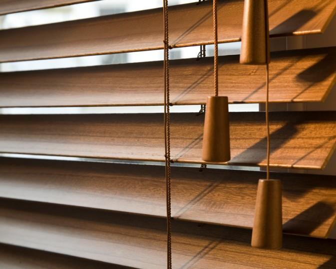 Wooden-slat-blinds