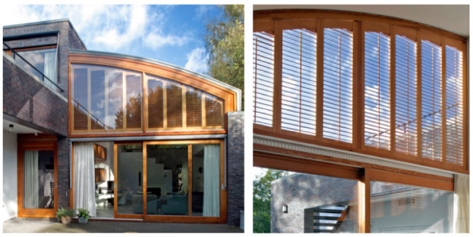 curved arched shutters