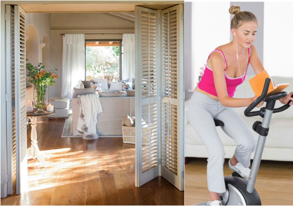 home gym shutters
