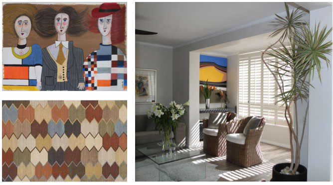 geometry in decor with shutters