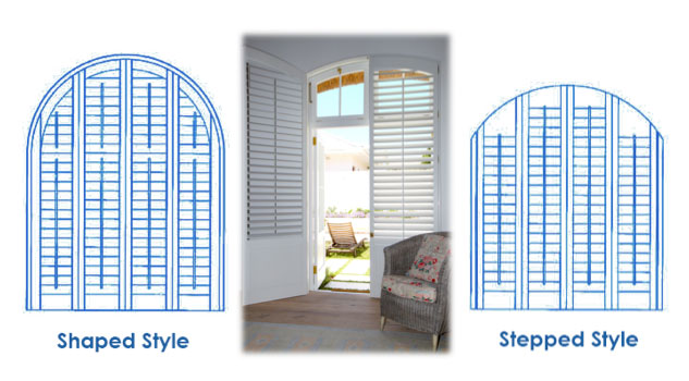 shaped arched shutters