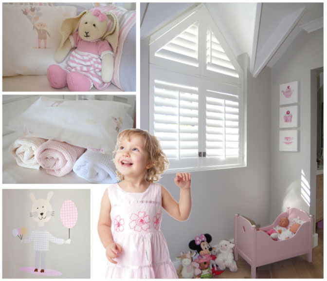 girls bedroom shutters