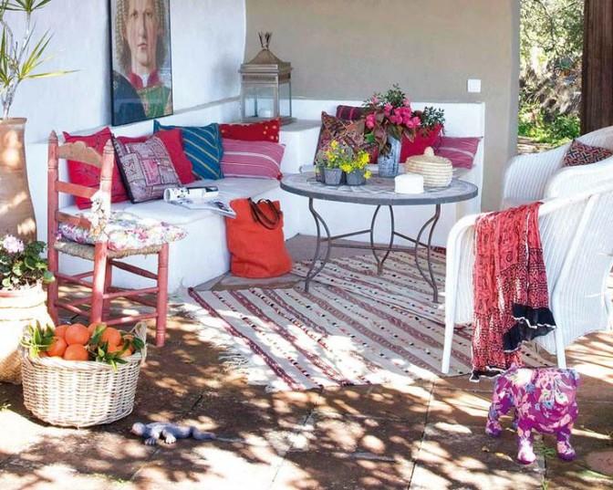 Bohemian Style Exterior Patio