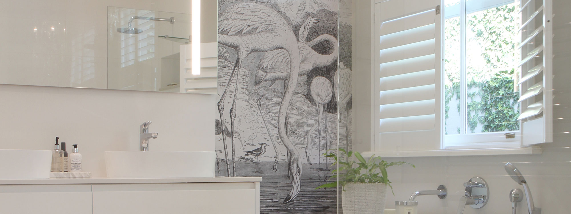 Decowood-shutters-white-bathroom-chandelier-