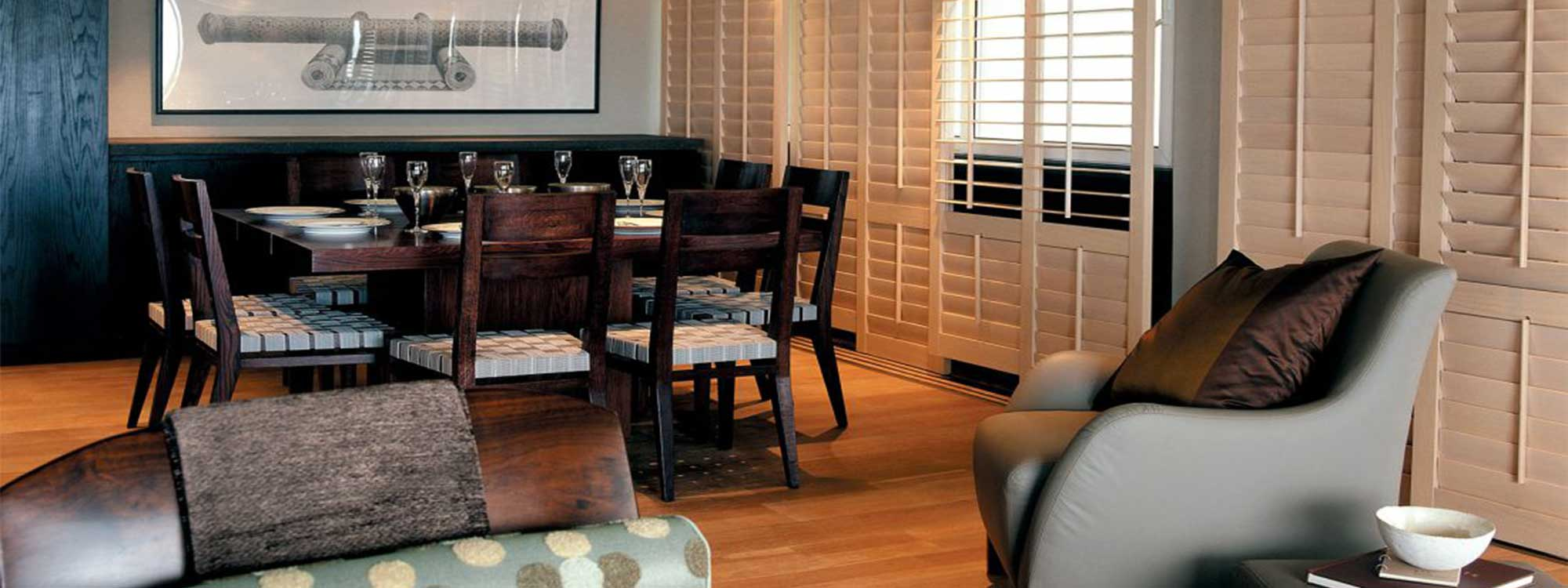 WHITE TEAK SHUTTERS AND BLINDS
